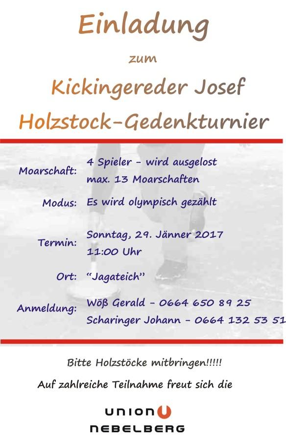 Josef-Kickingereder-Holzstock-Gedenkturnier